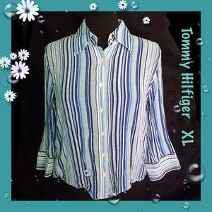 Tommy Hilfiger / Size XL / Gauze Stripe Shirt